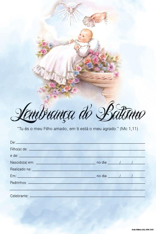 Produto Scala Editora - Livro: Lembrança de Batismo (LB-M) - Lembranças