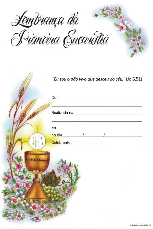 Produto Scala Editora - Livro: Lembrança de Eucaristia (LE-1) - Lembranças