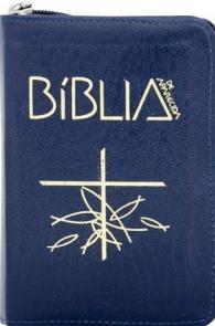 Produto Scala Editora - Livro: Bíblia de Aparecida – Bolso Zíper Azul - Bíblia